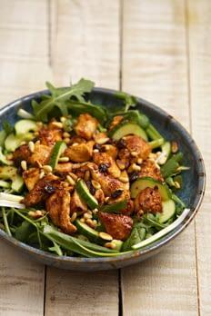 warm chicken and nut salad recipe