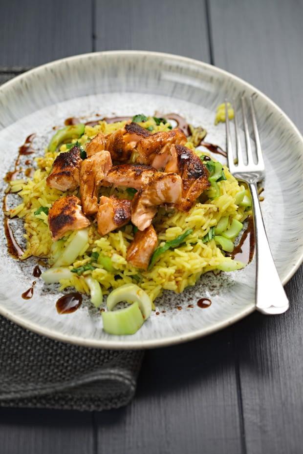 Paprika Salmon with Soy & Honey recipe