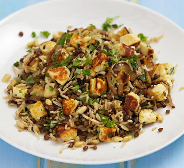puy and haloumi rice